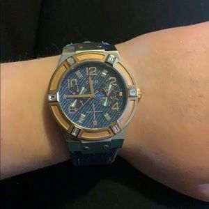 Guess watch with denim band